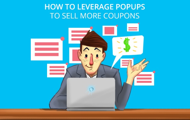 use popups to sell coupons