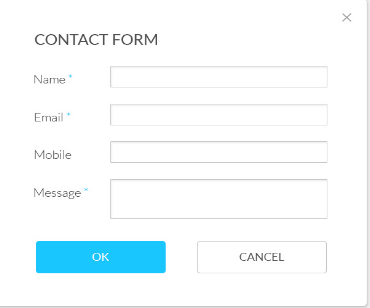 Contact form popup
