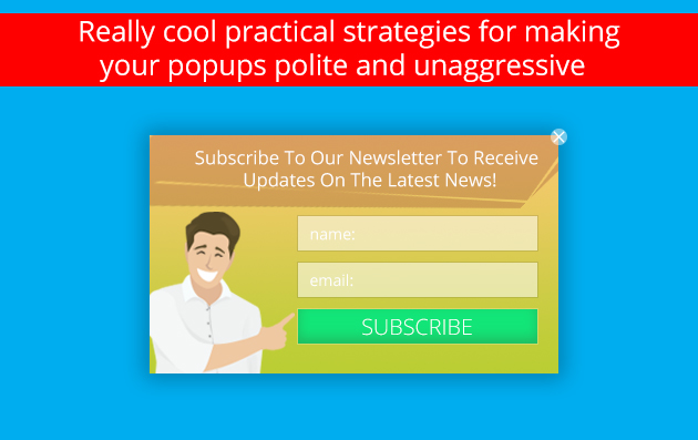 polite and unaggressive popups