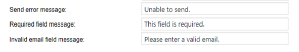 error required field invalid email messages