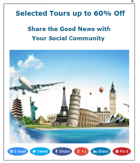 Social popup discounted tours to Europe