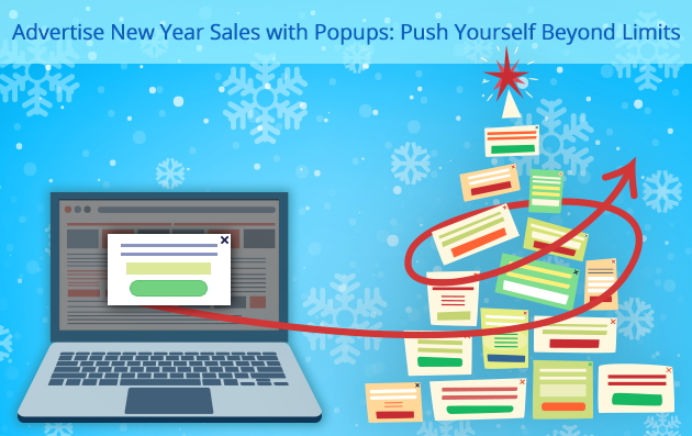 Advertise New Year Sales with Popups