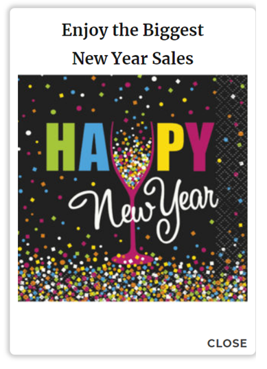 Geo targeting extension happy New Year enjoy the biggest New Year sales