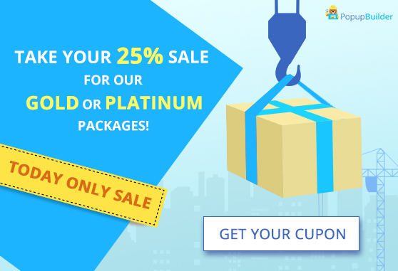 Image popup take your 25% sale for our gold or platinum packages